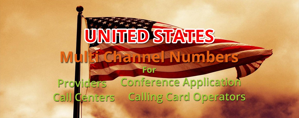 USA Numbers with unlimited channels for Calling Cards &  Call Centers