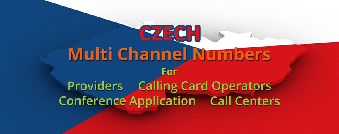 Czech Republic Phone  Numbers with unlimited channels for Calling Cards &  Call Centers