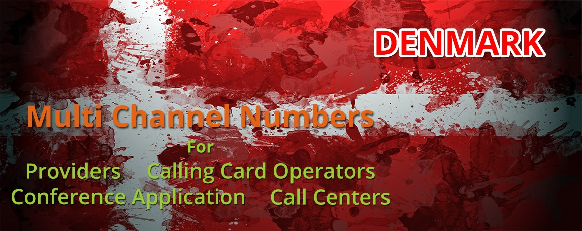 Denmark Numbers with unlimited channels for Calling Cards &  Call Centers